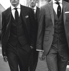 I'm such a sucker for a handsome face and a well dressed man! Charcoal Chelsea Suit by Hackett London Gentleman Mode, Gentleman Style, English Gentleman, Three Piece Suit, 3 Piece Suits, Sharp Dressed Man, Well Dressed Men, Look Fashion, Mens Fashion