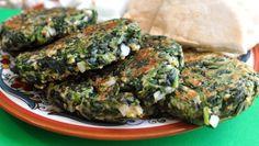 Spinach patties...so much easier than black bean burgers