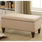 Found it at Wayfair - Upholstered Storage Entryway Bench; for the foot of the bed storage