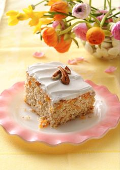 Doctor up a box of our butter pecan cake mix with a can of apricots! The combo of apricot preserves and whipped frosting on top serves as a sweet and easy finishing touch. Don't care for apricots? Make it peachy by using canned peaches and peach preserves instead!