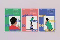 Edinburgh International Book Festival identity by Tangent Graphic