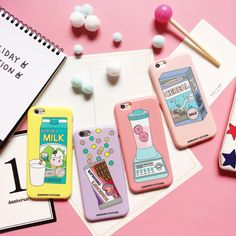 Hot Cute Candy Color Soft Pink Cereal Milk Chocolate Juice Matt TPU Skin For iPhone 6 6s 7 7plus Fashion Cool Phone Cover Case
