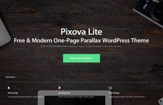 Pixova Lite Shines as Free and Modern One-Page Parallax WordPress Theme