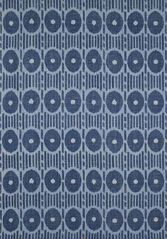 MESA IKAT, Blue, F914230, Collection Imperial Garden from Thibaut
