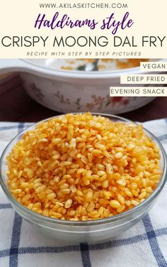 Crispy moong dal fry or the fried moong dal namkeen in haldirams style is very tasty and easy evening snack recipe which can be easily made at home. Drink Recipes, Vegan Recipes, Snack Recipes, Indian Snacks, Indian Food Recipes, Easy Evening Snacks, Moong Dal Recipe, Deep Fried Recipes, Dal Fry