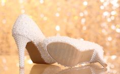 Wedding Shoes Lace Bridal Shoes Pearl Bridal Shoes by Jojoangelly
