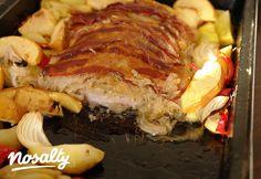 Karaj savanyú káposztával sütve, tepsiben | Nosalty Bacon, Beef, Food, Meat, Essen, Meals, Yemek, Pork Belly, Eten
