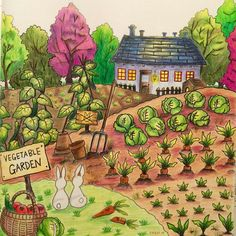 My first completed coloring page. #romanticcountry #romanticcountrycoloringbook…