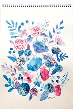 DIY: freehand watercolor floral painting
