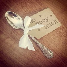 You are loved...Stamped ViNtAgE silver plated tea spoon  on Etsy, £7.95