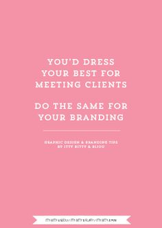 Branding and Graphic Design tips by Itty Bitty & Bijou.