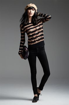 Family Gathering: MARC BY MARC JACOBS Sweater & J Brand Leggings #Nordstrom #Holiday