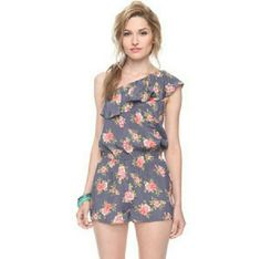 I love H81 floral romper Very cute , and its fabric elastic to the waist, i use maybe twice and doesn't use after that.. I love H81  Dresses One Shoulder