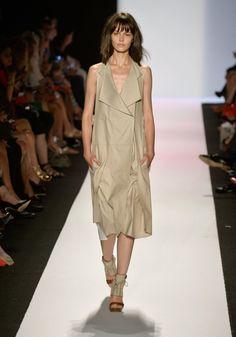 BCBG Max Azria tan trench style dress  #minimalist #fashion