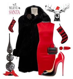 """Santa Baby"" by kotnourka ❤ liked on Polyvore featuring Gucci, Ted Baker, Humör, Bling Jewelry, Givenchy, Home Decorators Collection and Rodin"
