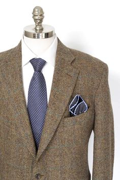 Get professorial, in this SOUTHWICK USA Brown Herringbone Plaid Harris Tweed. | Get in there! http://www.frieschskys.com/blazers | #frieschskys #mensfashion #fashion #mensstyle #style #moda #menswear #dapper #stylish #MadeInItaly #Italy #couture #highfashion #designer #shopping