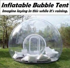 Inflatable bubble tent - Best picnic/camping idea ever!