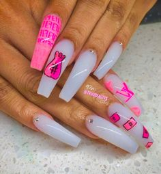 Coffin nails are the hottest nail shape right now. This list of coffin shaped nails includes short, long, cute & colors. Huge list of coffin nail ideas! Bling Acrylic Nails, Drip Nails, Aycrlic Nails, Summer Acrylic Nails, Best Acrylic Nails, Pastel Nails, Bling Nails, Coffin Nails, Nail Swag