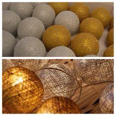 Siiiiimmm!! Nós temos sim!! Também em prata e dourado!!#cottonballslights