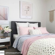 @Regranned from @simonsayshome - Bedroom Inspo ✨ Bedroom belonging to @myhomestyle89 via the hashtag #simonsayshome