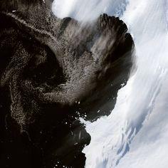 el hielo marino antártico y la tierra