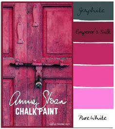 Kleuren combinatie Annie Sloan krijtverf. info website Art Home and Living.