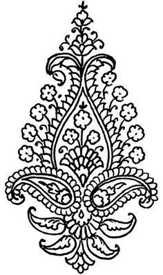 flowers and paisley coloring pages | Recent Photos The Commons Getty Collection Galleries World Map App ...