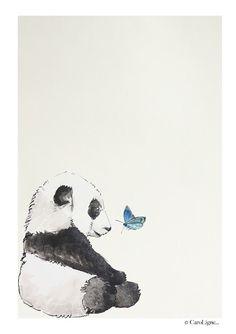 CaroLigne...: Création graphique : La Rencontre Panda à l'encre ...