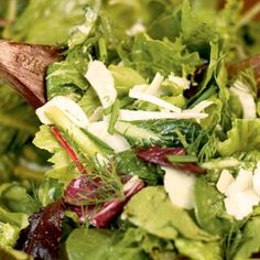 Mixed Green Salad With Fennel and Fresh Herbs