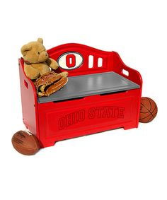 Love this Ohio State Buckeyes Storage Bench on #zulily! #zulilyfinds