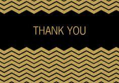 Mixbook Gold Chevron Wedding Thank You Cards