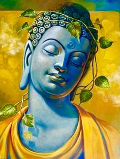 Indian Art Paintings, Modern Art Paintings, Budha Painting, Buddha Artwork, Buddha Canvas, Cubist Art, Lord Ganesha Paintings, Buddha Sculpture, Buddha Zen