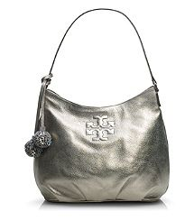 Metallic Thea Hobo. Tory Burch handbags, find them on eBay, brought together for you in one convenient site! Time and money savings! www.womensdesignerhandbag.com
