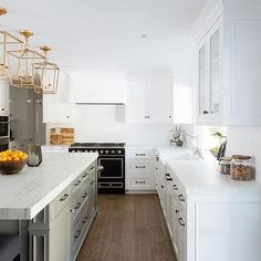 White Kitchen Hood with Black Stove
