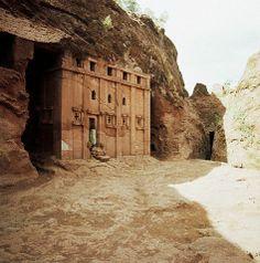 Religion - Monolithic Church of Abba Libanos at Lalibala, Ethiopia