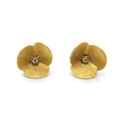 www.ORRO.co.uk - Atelier Luz – Gold & Diamond Zucara Studs - ORRO Contemporary Jewellery Glasgow...
