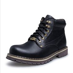 64.99$  Watch now - http://alilab.shopchina.info/1/go.php?t=32763293713 - Big Size 38-50 Autumn Winter Men Shoes Warm Leather Men Snow Boots Lace-Up Casual Ankle Boots Motorcycle Boots Martin Boots  #aliexpress