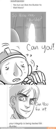 ((FIX IT BOB. FIX IT NOW.)) ->The real question is... Does he need a Master Builder or Fix-It Felix to help.... O.O