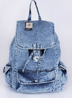 NEUHEIT.:. Vintage Rucksack Jeans PRIMARK ATMOSPHERE Blau