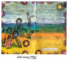 * Rubber Dance Blog *: Mixed media vintage art journal page with Rubber Dance Stamps