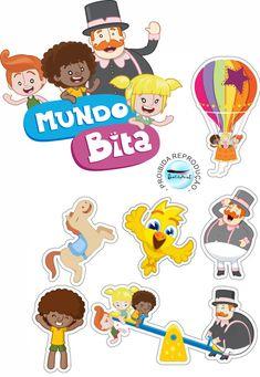 Mundo Bita Thing 1, Gabriel, Flamingo, Smurfs, Cake Toppers, Alice, Scrapbook, Party, Bernardo