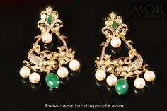 Gold Emerald Earrings from Mor Jewellers