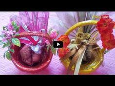 الحلقة 8 - طريقة صنع سلات الهدايا للأطفال | Beautiful Paper Basket to put Gifts for kids - YouTube