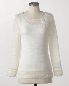 Tonal embellished pullover