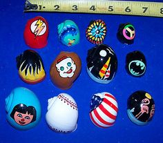 Image detail for -12 Hermit Crab Shells Assorted Painted Seashells Turbo Display Decor ...