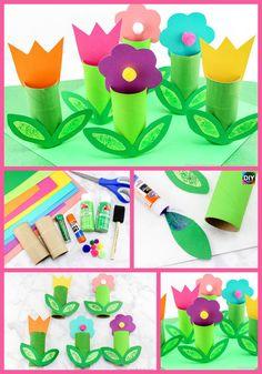 10 Cutest DIY Toilet Paper Roll Crafts - For Kids Crafts Paper 10 diy toilet paper roll crafts - Diy Paper Crafts Bee Crafts For Kids, Crafts For Seniors, Spring Crafts For Kids, Mothers Day Crafts, Diy For Kids, Toilet Paper Roll Crafts, Diy Paper, Wrapping Ideas, Diy Crafts Vases