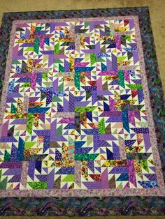 I am trying to concentrate on finishing. Like many quilters, I enjoy planning and playing with fabric. Finishing is a discipline that is un...