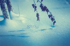 Снежная открытка