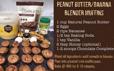 These yummy muffins are made in the blender!