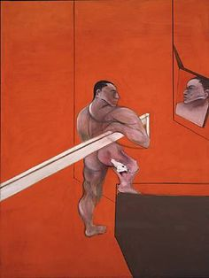 Bacon, Francis (1909-1992) - 1990 Male Nude Before Mirror